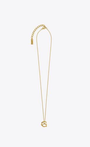 letter g pendant necklace in 18k gold