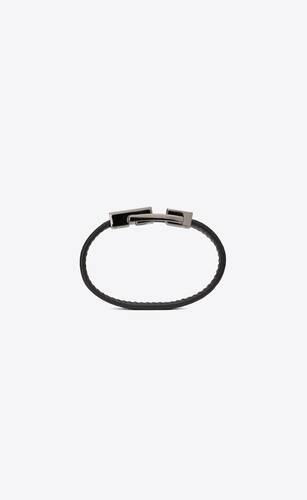 betty bracelet in leather and metal