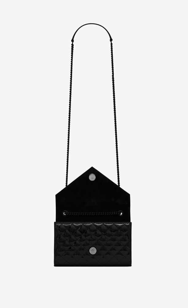envelope small bag in mix matelassé patent leather