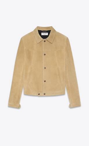 short jacket in suede