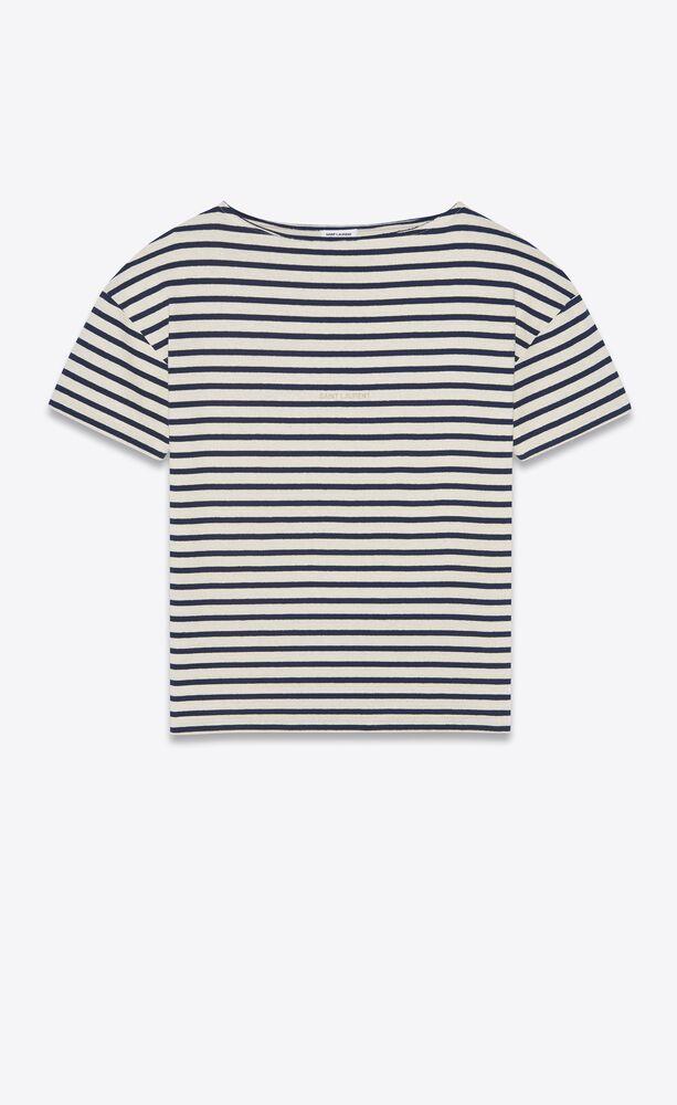 t-shirt mit saint laurent streifen