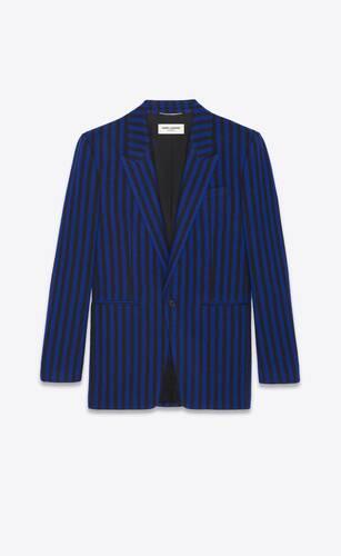 veste à boutonnage simple en flanelle à rayures