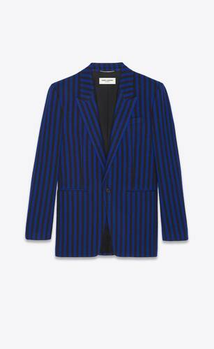 single-breasted jacket in striped flannel