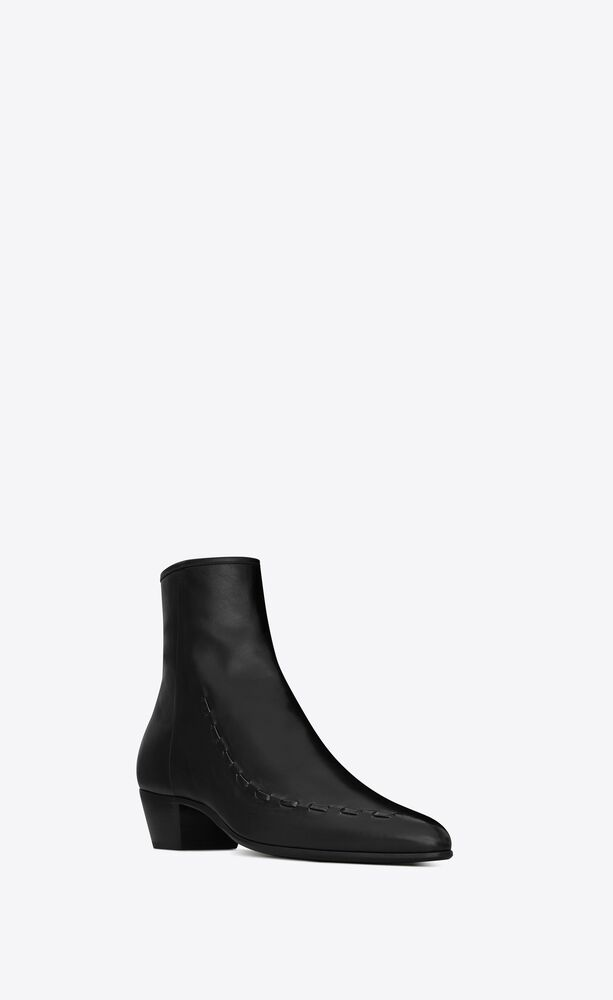 casey ankle boots in smooth leather