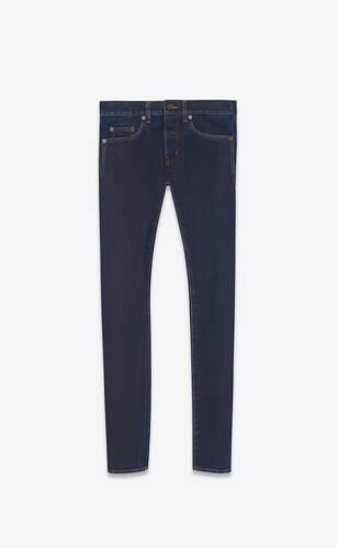skinny-fit jeans in midnight dark blue denim