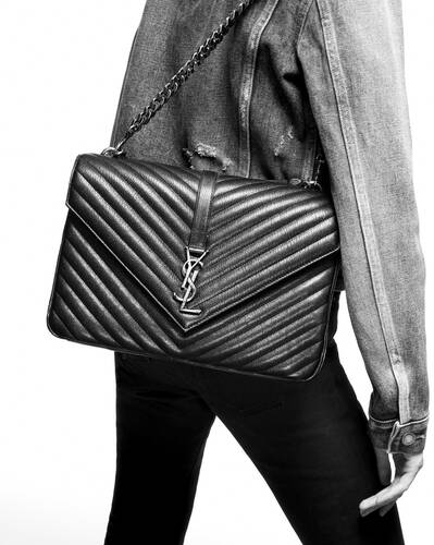 college medium in quilted leather
