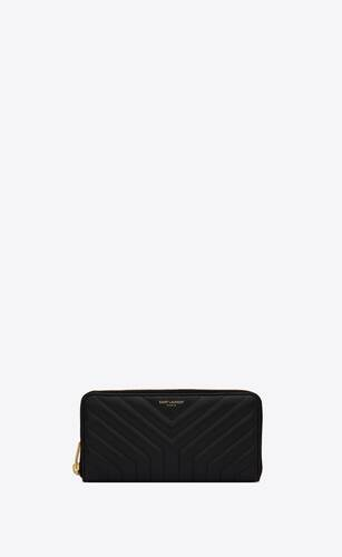 joan zip-around wallet in y-quilted leather