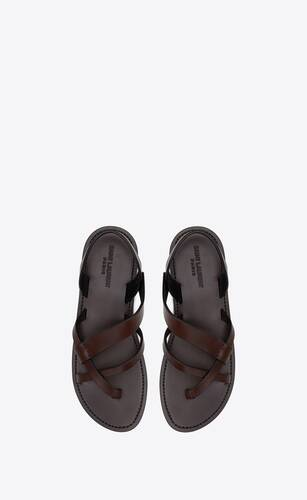 matt sandals in smooth leather
