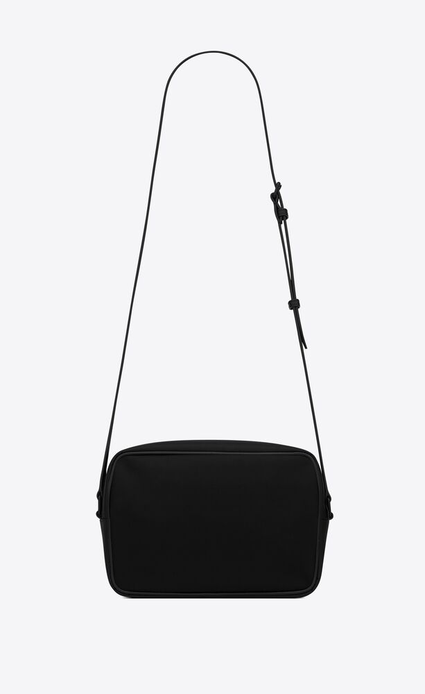 camp camera bag in nylon and lambskin