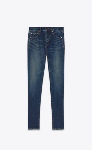 slim-fit jeans in dirty dark vintage blue denim