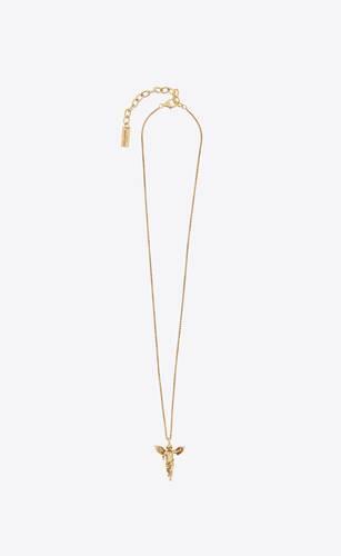 angel pendant necklace in metal