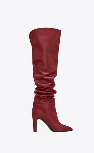 botas altas jane de piel lisa