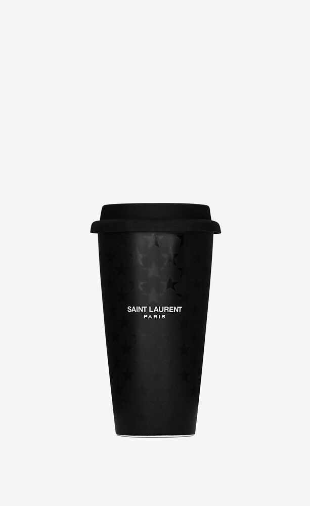 saint laurent stars print coffee mug in ceramic