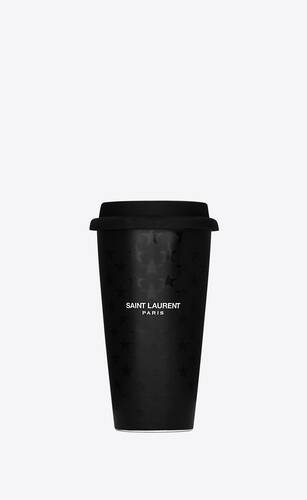 saint laurent stars print coffee mug in ceramic