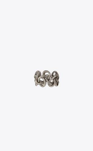 sailing knot ring in metal