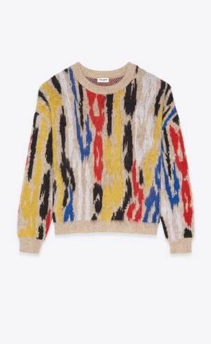 sweater in leopard jacquard