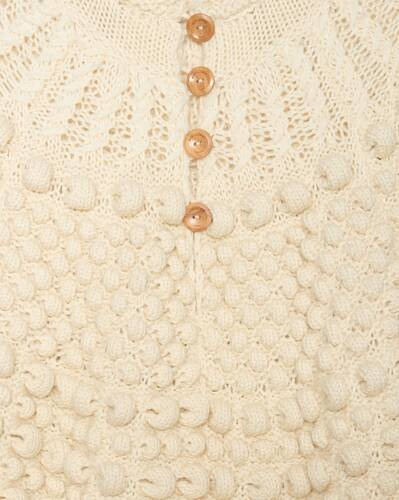 crochet poncho in wool