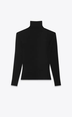 pull côtelé en laine stretch