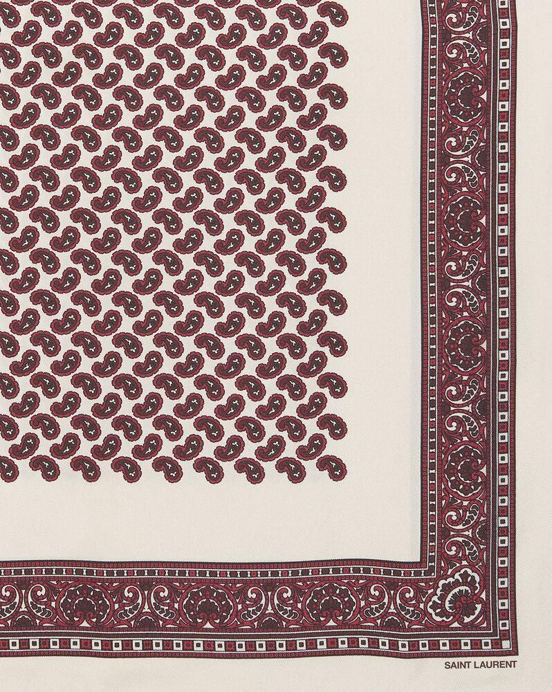 quadratischer paisley-schal aus seidentwill