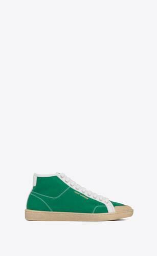 court classic sl/39 sneakers mi-hautes en cuir et toile