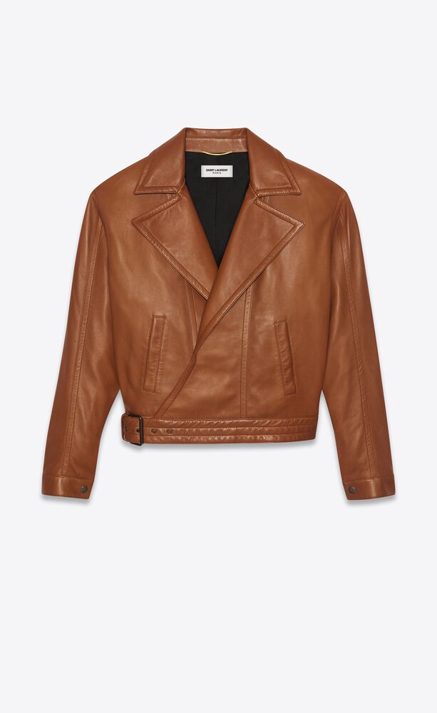 oversized biker jacket in lambskin