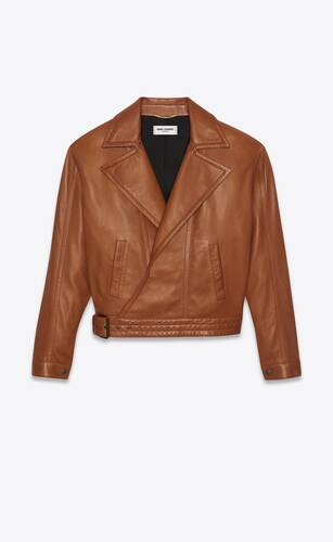 oversized biker jacket in lambskin