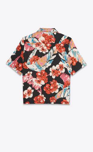 saint laurent hawaiian shirt