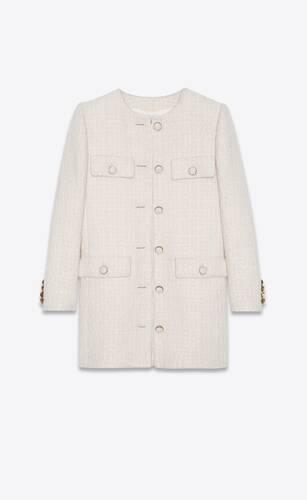 chaqueta larga de tweed