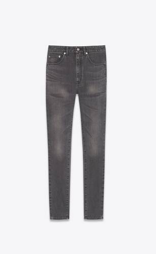 jean skinny taille haute en denim stretch grey black