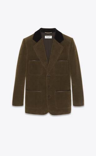single-breasted corduroy jacket