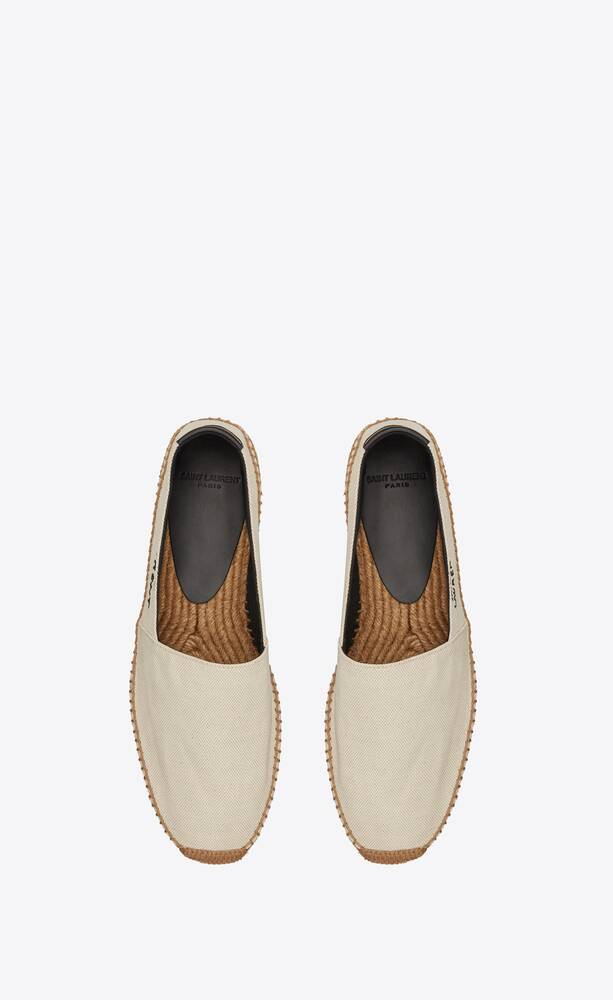 espadrilles aus canvas mit saint laurent stickerei
