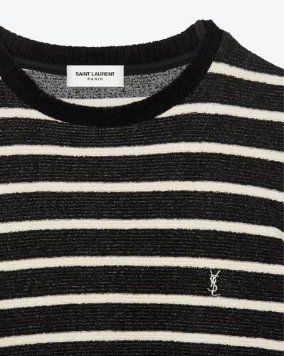 モノグラム セーター(リブベルベットジャージー/ストライプ)