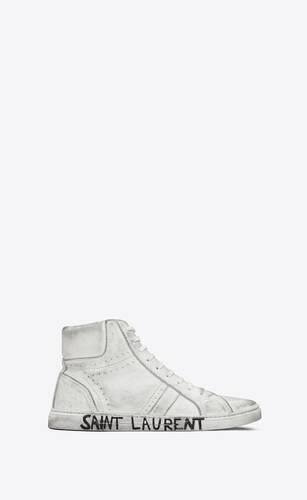 joe sneakers en cuir effet usé