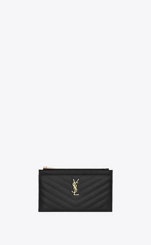 small monogram bill pouch in grain de poudre embossed leather