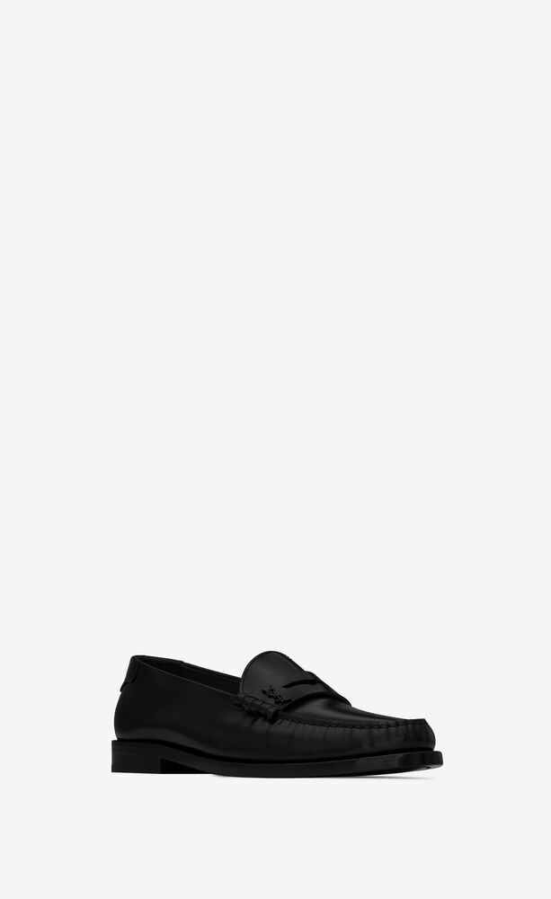 le loafer mocassins monogram en cuir lisse