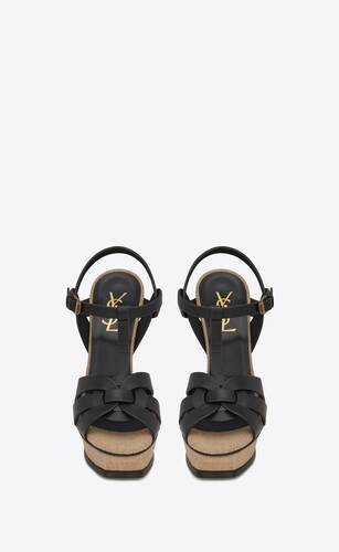 tribute sandals in smooth leather and rope
