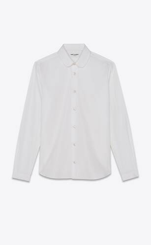 classic shirt in cotton poplin