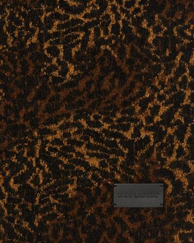 leopard-print scarf in lamé knit