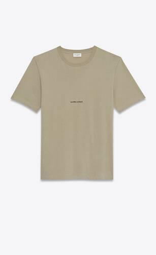 t-shirt mit saint laurent logo