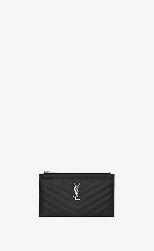 small monogram bill pouch in quilted grain de poudre embossed leather