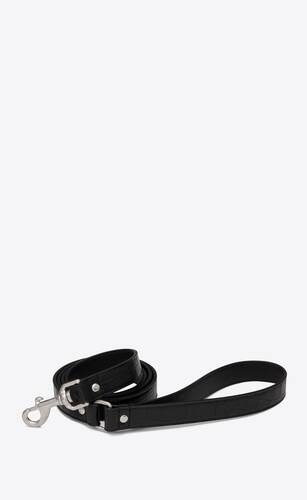 dog leash in crocodile-embossed leather