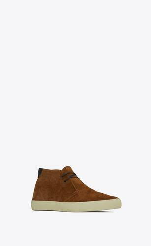 ace sneakers in suede and smooth leather