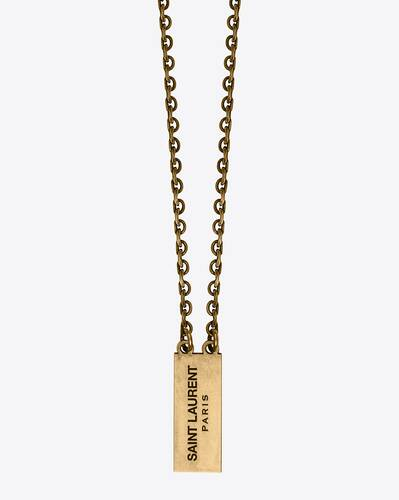 double id tag necklace