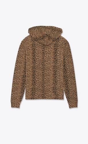 leopard-print monogram hoodie