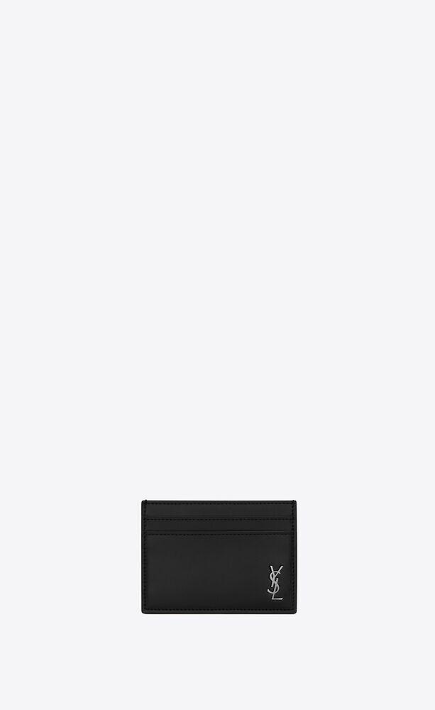 매트 가죽 소재의 미니 모노그램 카드 케이스