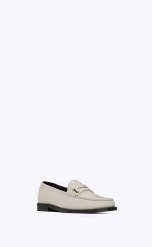 le loafer monogram penny slippers aus glattleder