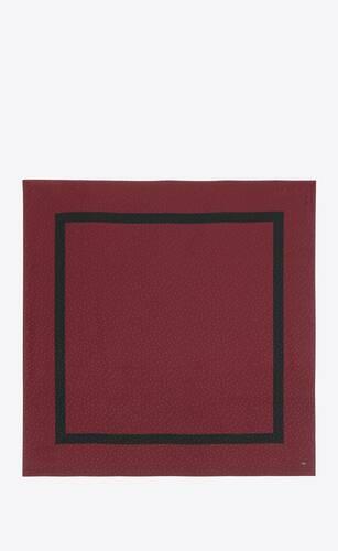 gran carré monogram de jacquard de seda con estampado de lunares