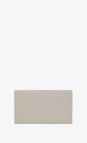 pochette uptown de piel repujada grain de poudre