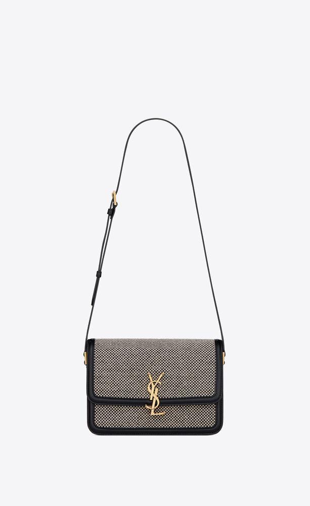 solferino medium satchel in braided tweed