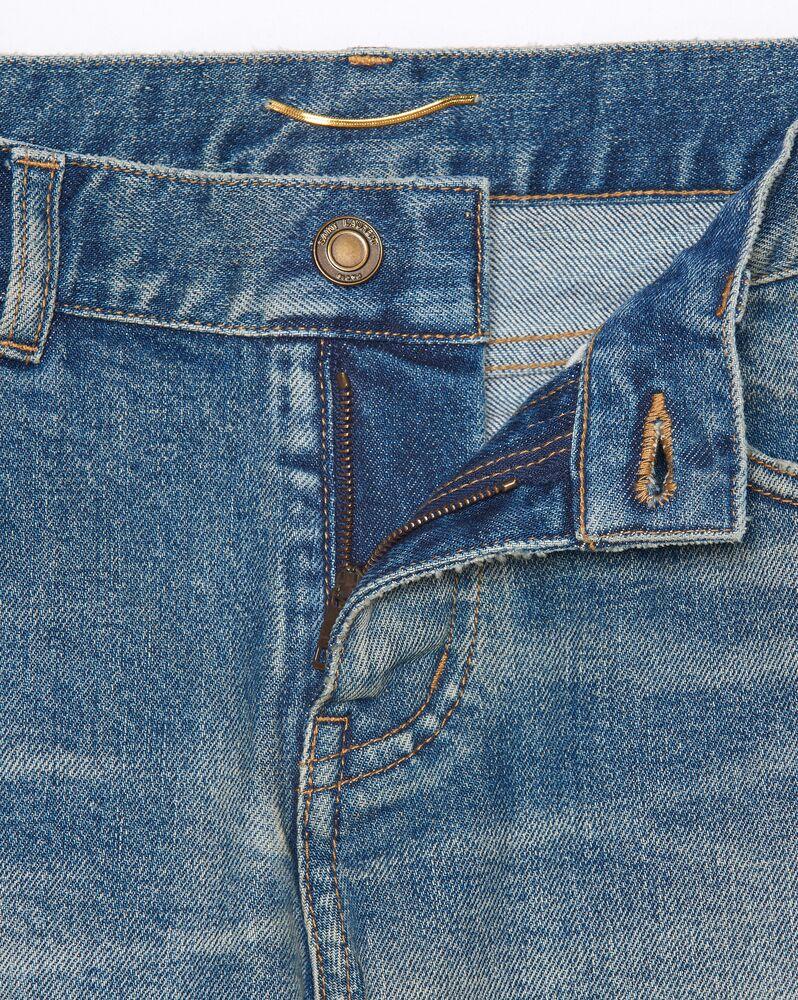low-rise jeans in dirty sandy blue denim